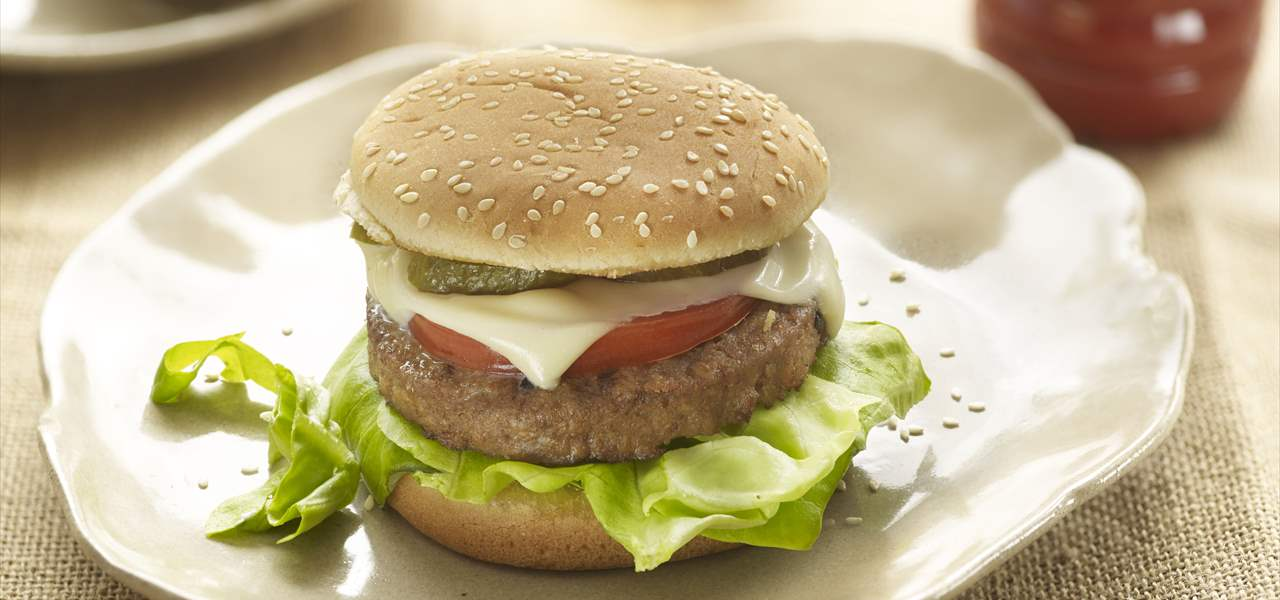 Cheeseburger vegetariana clásica