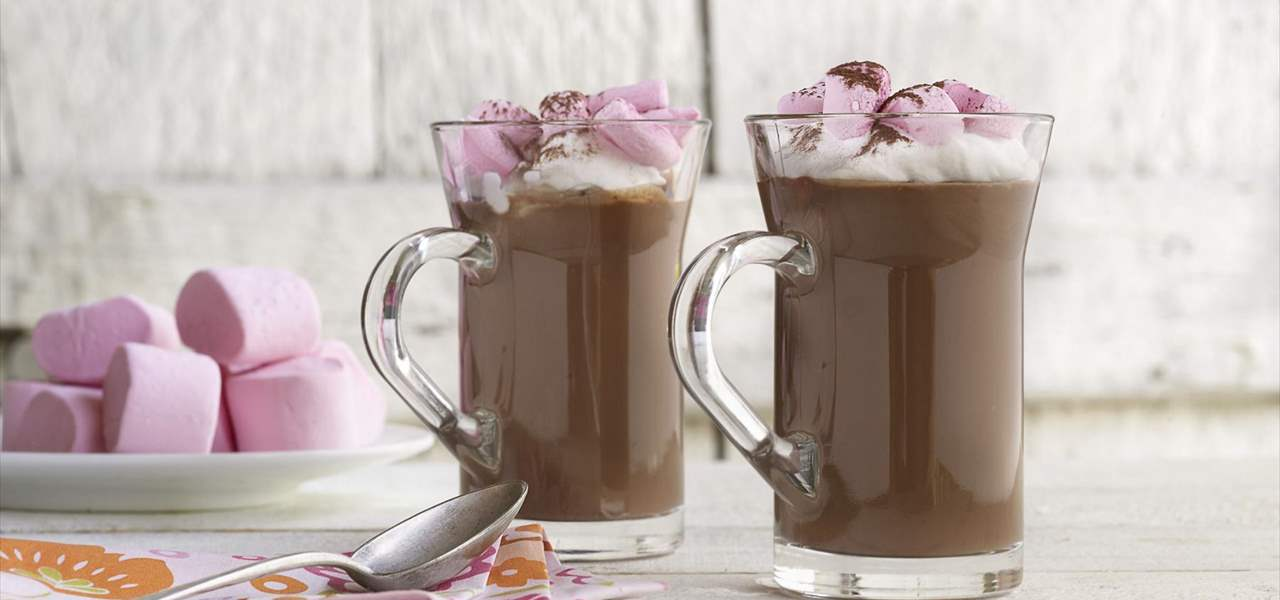Chocolate caliente con marschmallows
