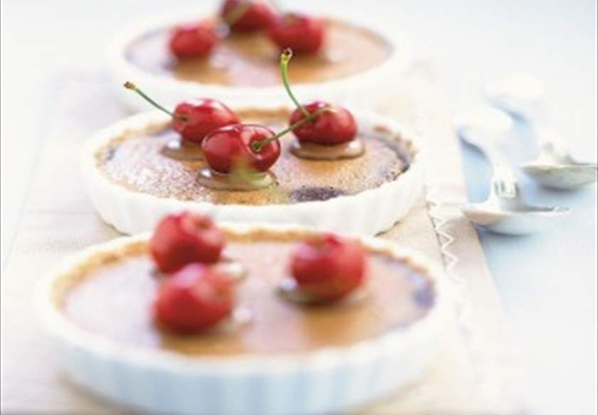 Clafoutis de chocolate y cerezas