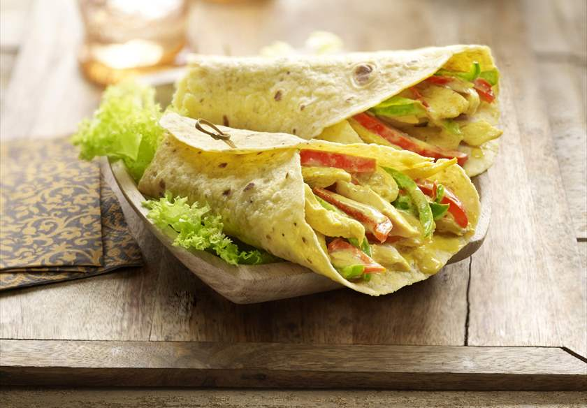 Fajitas con pollo Ideal