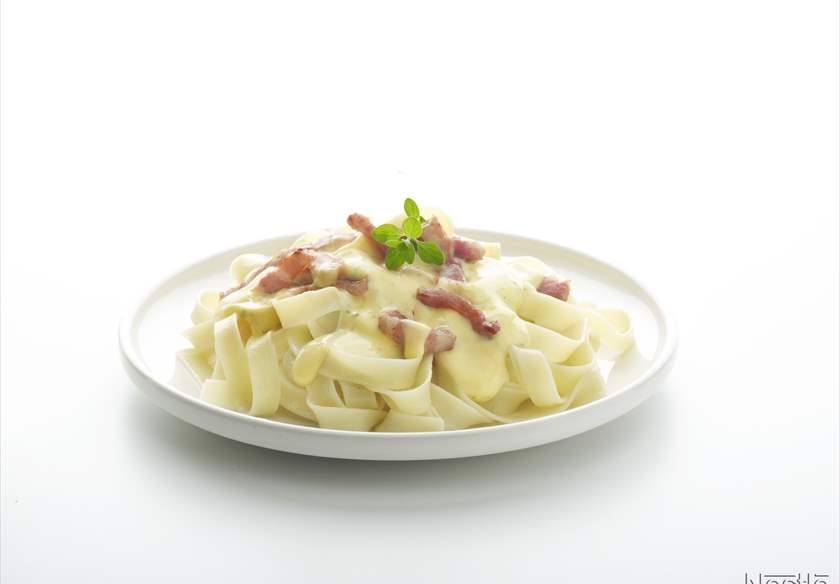 Tagliatelle a la carbonara IDEAL