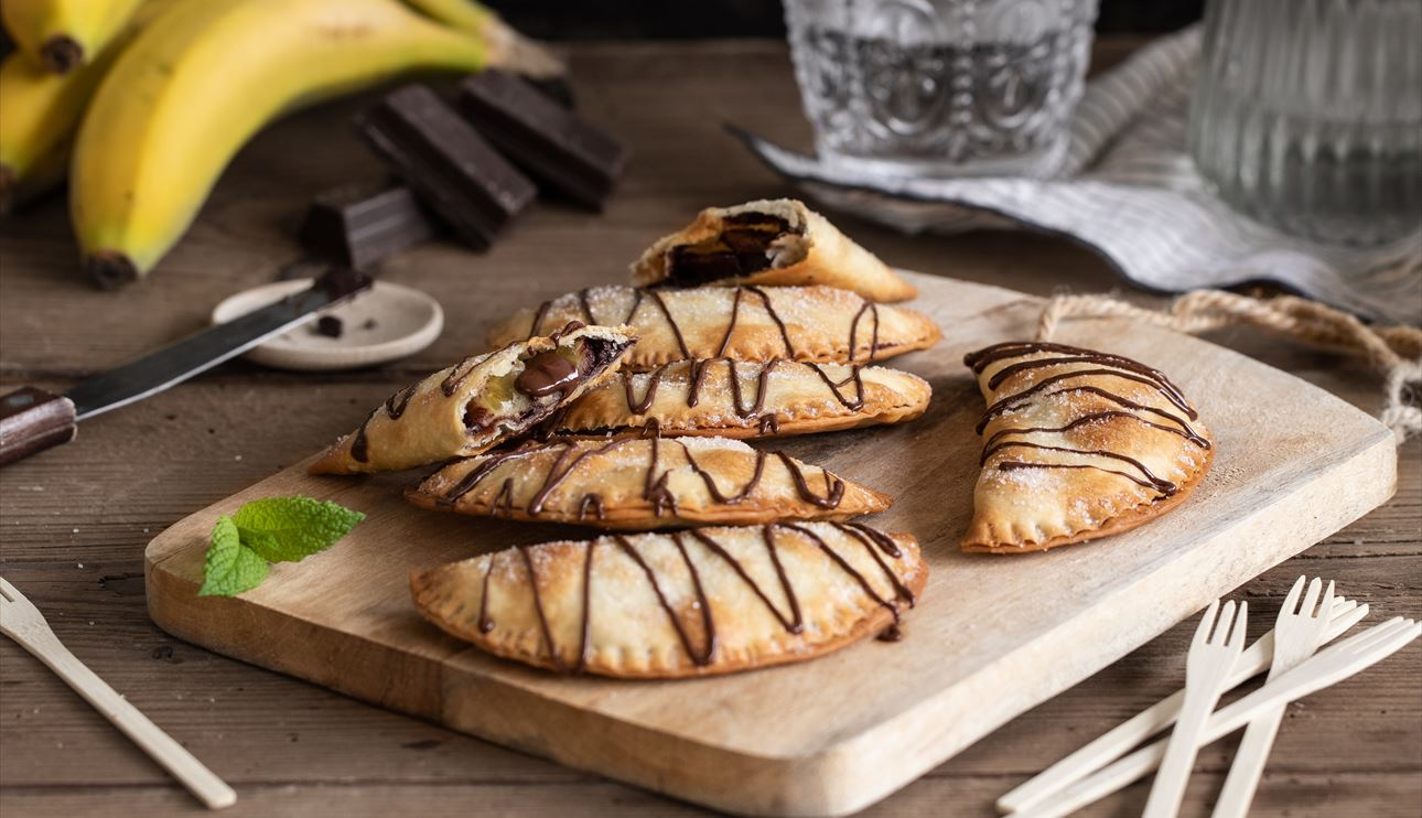 Empanadillas de plátano y chocolate