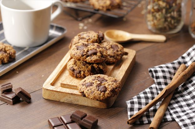 Cookies de avena y chocolate negro 70%