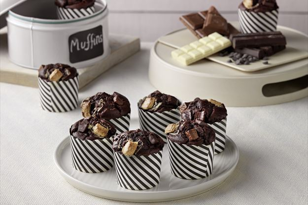 Muffins tres chocolates Thermomix® (TM6, TM5)