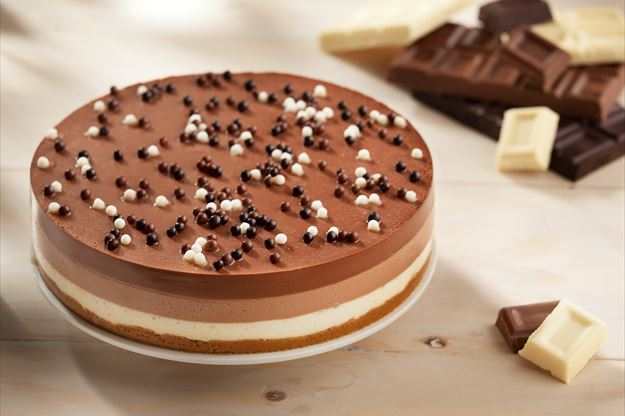 Tarta a los tres chocolates con Thermomix® (TM31, TM5)