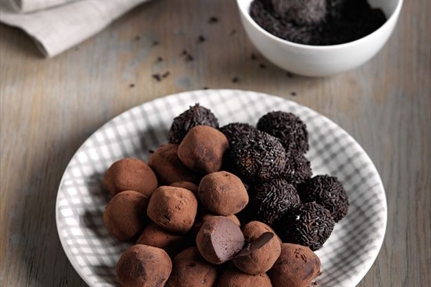 Trufas de chocolate negro con Thermomix® (TM5)
