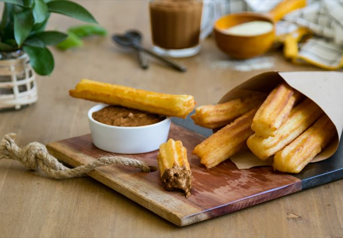 Trampantojo de chocolate con churros