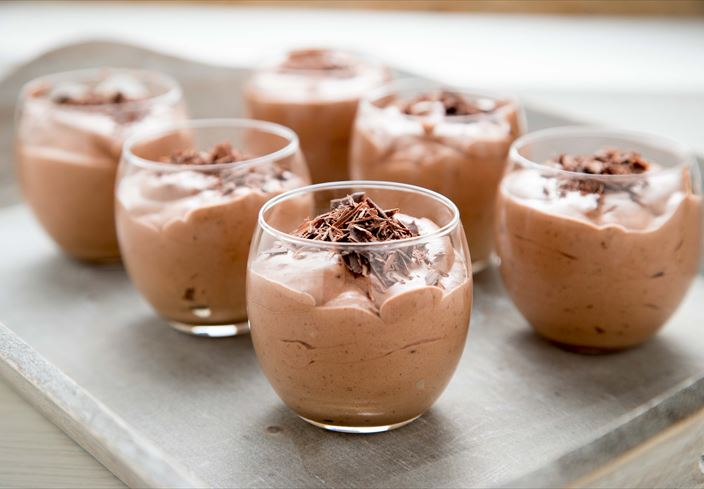 Mousse de chocolate intenso