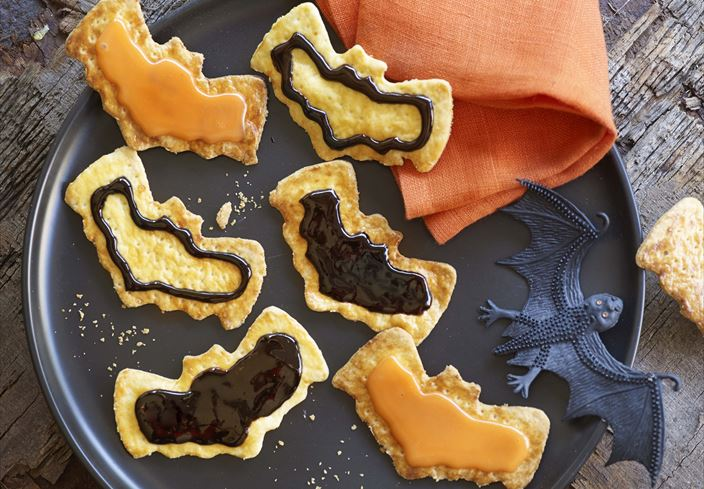 Galletas murciélago de halloween