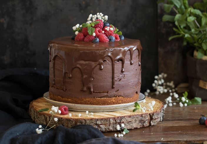 Layer cake de chocolate negro 70%