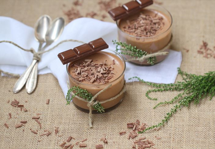 Mousse de chocolate con leche