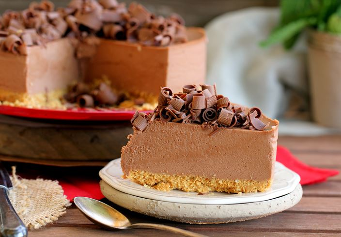 Tarta mousse de chocolate con leche